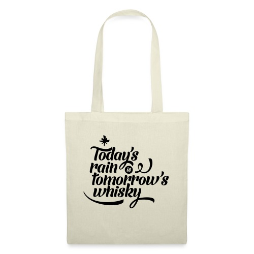 Todays's Rain Women's Tee - Quote to Front - Tote Bag