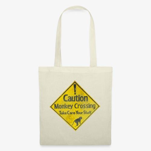 Caution Monkey Crossing - Stoffbeutel