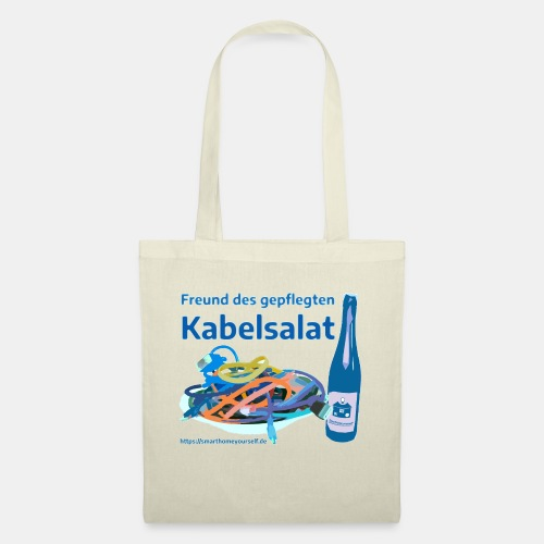 Freund des gepflegten Kabelsalat - Comic - Stoffbeutel