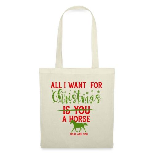 Weihnachts Wunschzettel - Pferd - Stoffbeutel
