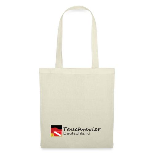 Tauchrevier Deutschland Logo classic schwarz - Stoffbeutel