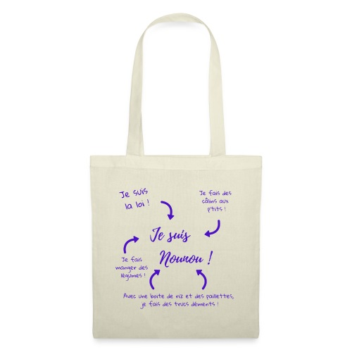 je suis nounou foncé - Tote Bag