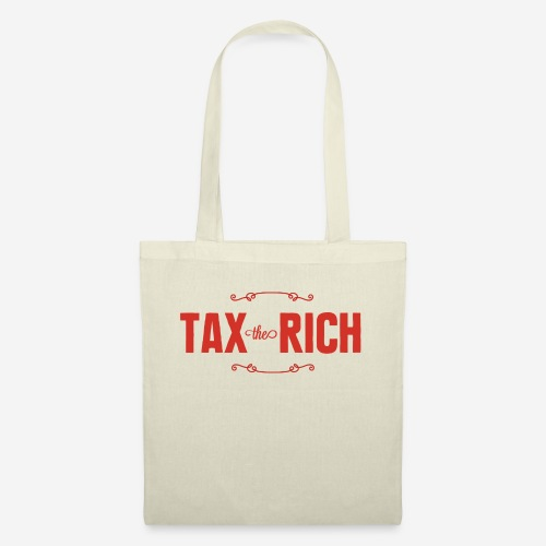 Tax the Rich, röd - Tygväska