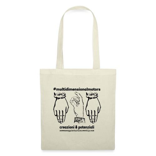 logo #MultiDimensionalMotors con segni mano - Borsa di stoffa