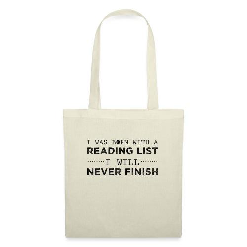 0193 Stapel ungelesener Bücher | Lesen | Leser - Tote Bag