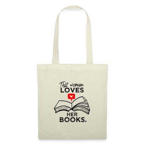 0217 Diese Frau liebt ihre Bücher | Leserin - Tote Bag