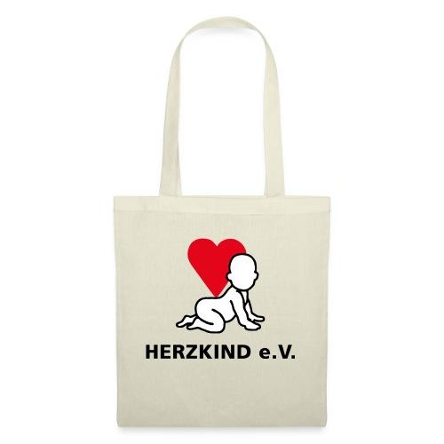 Herzkind Logo Wort Bildmarke ohne Unterzeile PFADE - Stoffbeutel