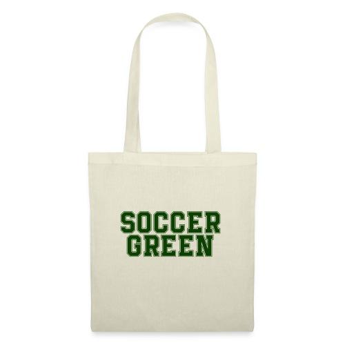Soccer Green Style Text - Borsa di stoffa