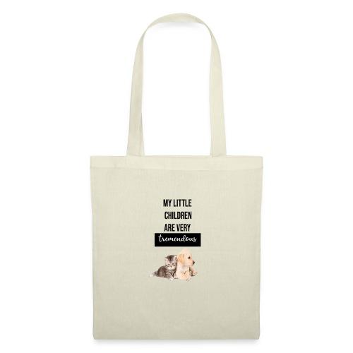 logo perro y gato - Bolsa de tela