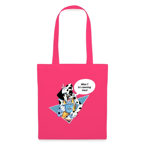 Dalmatian with his morning coffee - Tote Bag