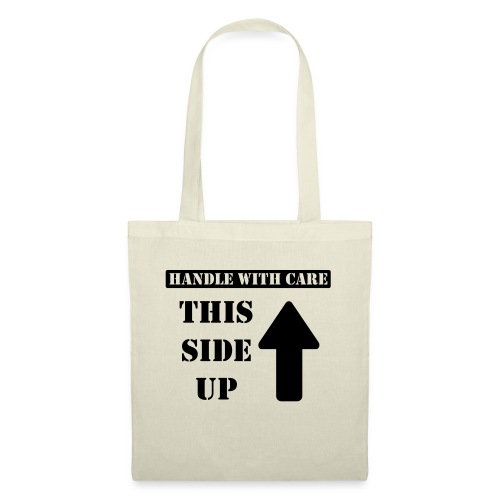 Handle with care / This side up - PrintShirt.at - Stoffbeutel
