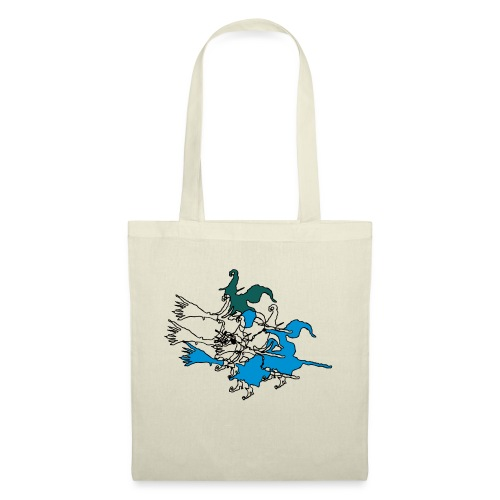 Witches on broomsticks Men's T-Shirt - Tote Bag