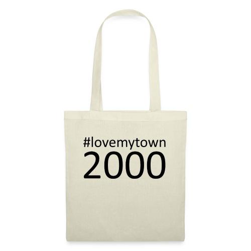 lovemytown2000zwart - Tas van stof