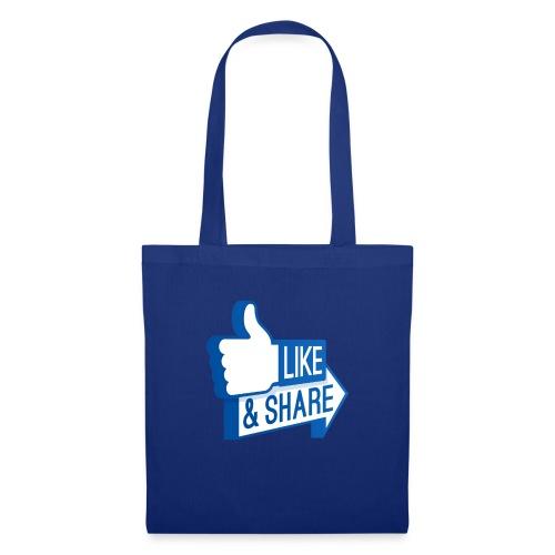 Like & Share (Facebook) - Borsa di stoffa