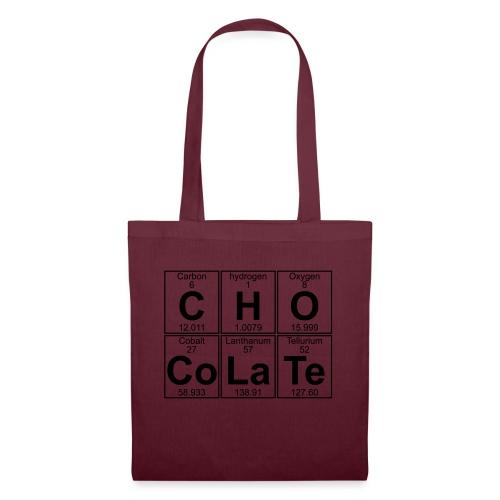 C-H-O-Co-La-Te (chocolate) - Full - Tote Bag