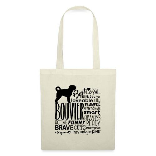 Bouvier Words Black - Tote Bag