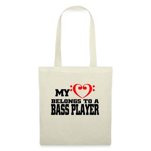 my heart belongs to a bassplayer - Torba materiałowa