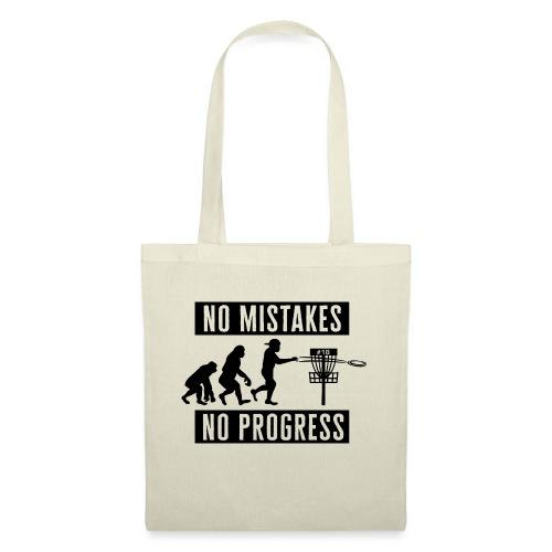 Disc golf - No mistakes, no progress - Black - Kangaskassi