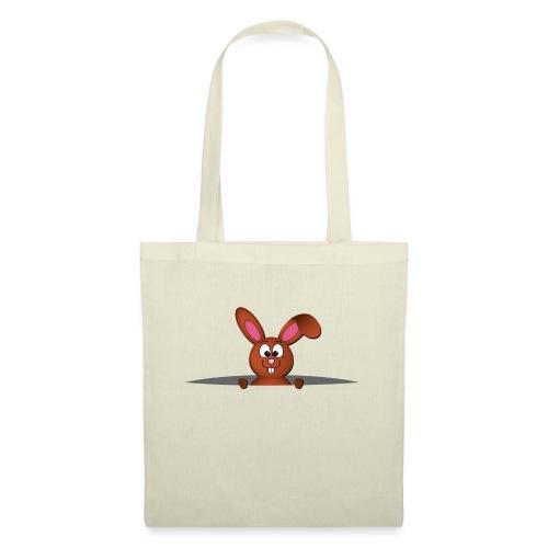 Cute bunny in the pocket - Borsa di stoffa