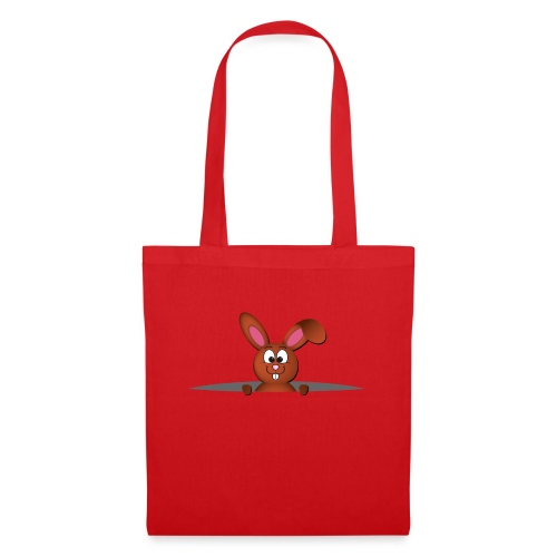 Cute bunny in the pocket - Borsa di stoffa