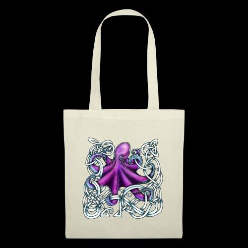 Celtic Octopus - Purple - Tote Bag
