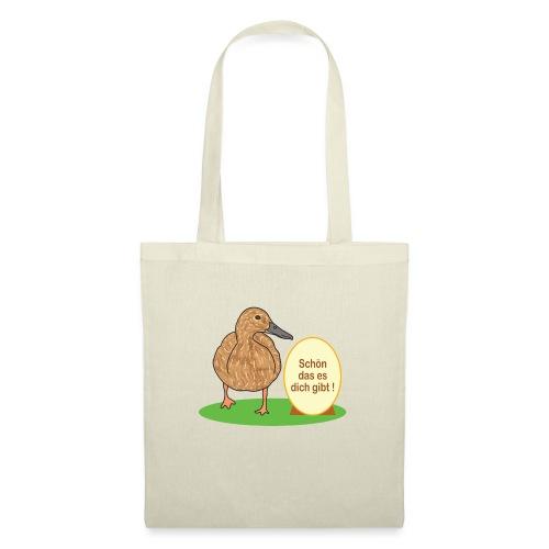 Ente mit Ei - Stoffbeutel