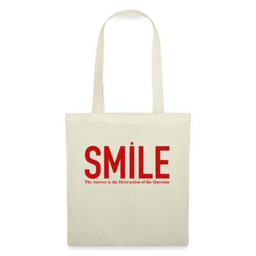 smile red star - Stoffbeutel