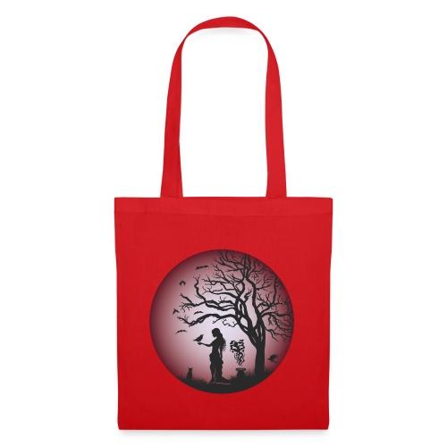 Halloween Silhouette red - Stoffbeutel