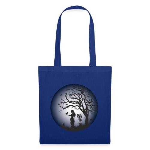Halloween Silhouette blue - Stoffbeutel
