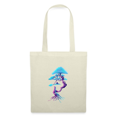 Tree design light blue and pink - Tote Bag