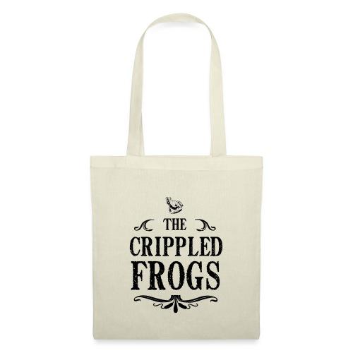 Logo The Crippled Frogs Black - Sac en tissu