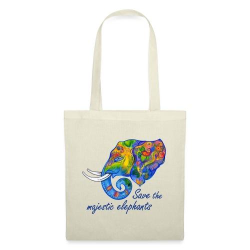 Save the majestic elephants - Stoffbeutel