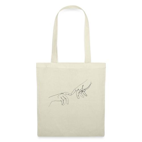 line art hands - Tas van stof