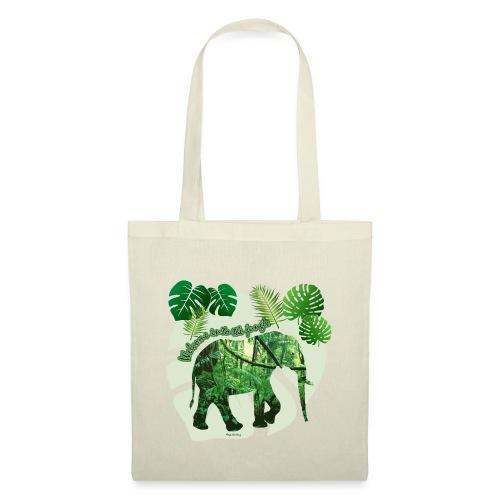 Dschungel - Elefant - Loxodonta cyclotis - Stoffbeutel
