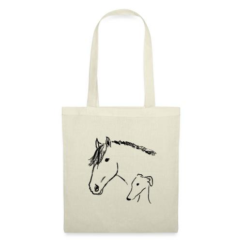 Windhund und Pferd - Stoffbeutel