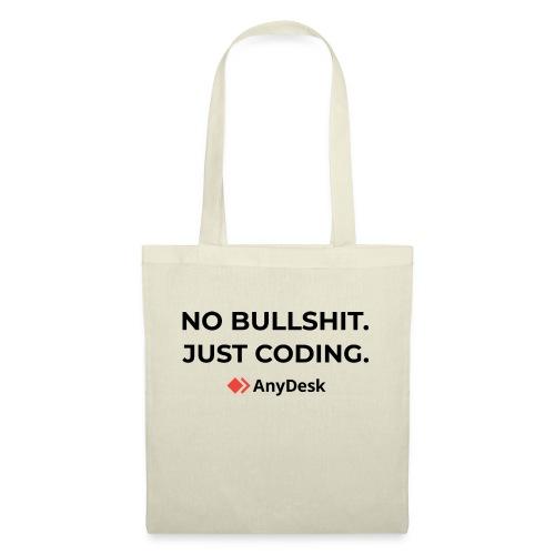 No Bullshit. Just coding. By AnyDesk - black - Stoffbeutel