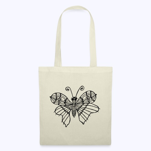 Schmetterling schwarz - Stoffbeutel