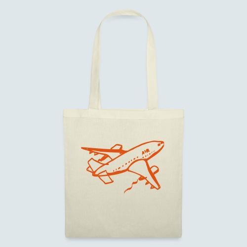 Flugzeug Illustration - Stoffbeutel