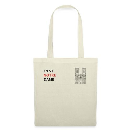C'est Notre Dame (noir) - Tote Bag