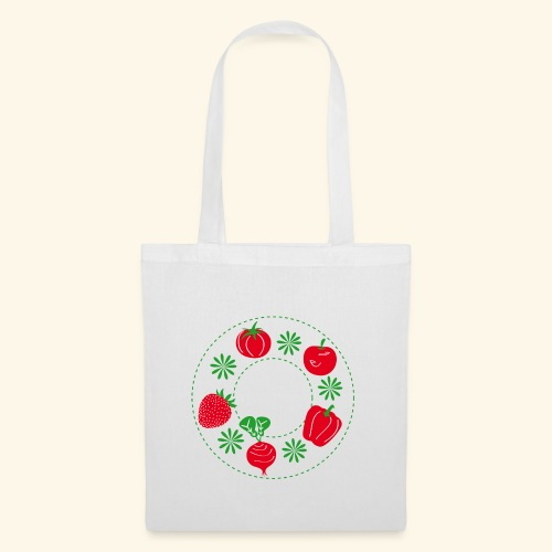 Frutos rojos del huerto - Bolsa de tela
