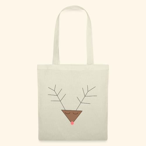 Pink nose reindeer - Tote Bag