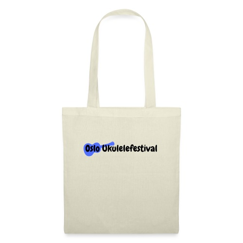 Oslo Ukulelefestival blå logo - Stoffveske