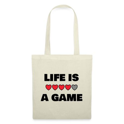 life is a game, black print - Tygväska