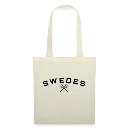 swedes, black print - Tygväska