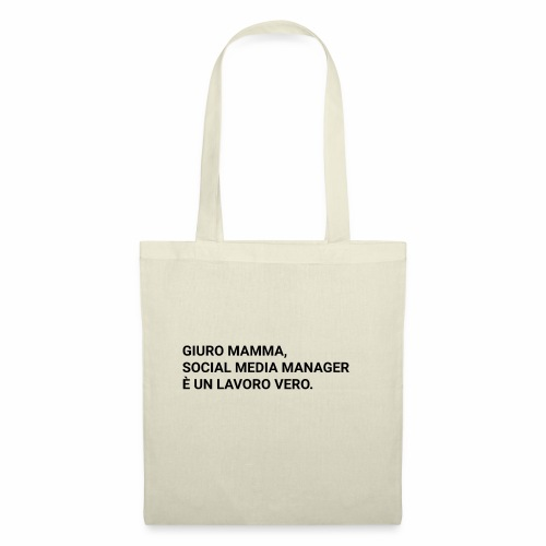 Giuro Mamma - Social media manager - Borsa di stoffa