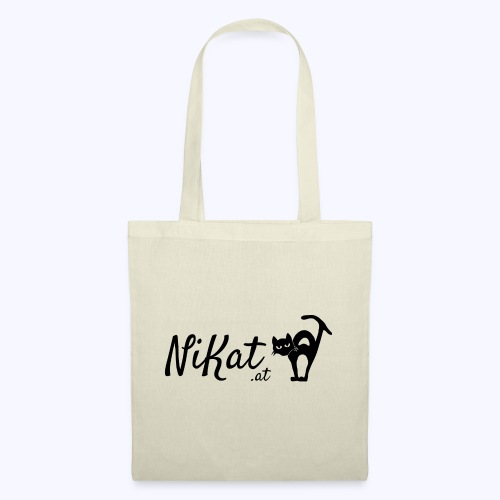 Nikat logo schwarz - Stoffbeutel