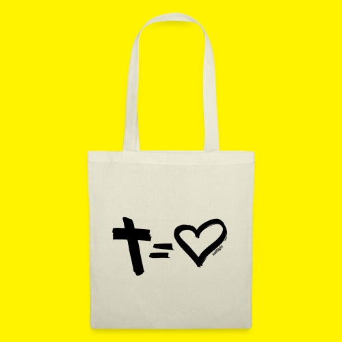 Cross = Heart BLACK - Tote Bag