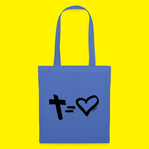 Cross = Heart BLACK - Tote Bag