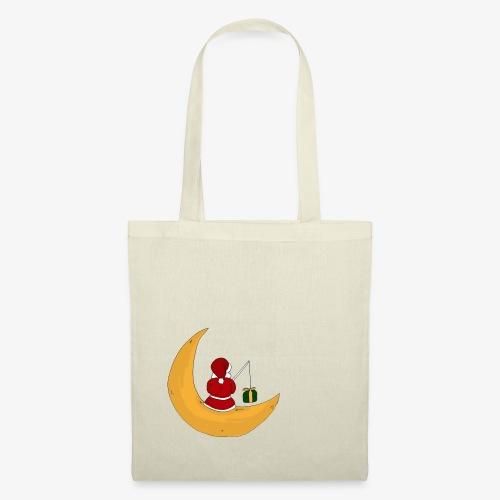 Santa sur un croissant de lune - Tote Bag