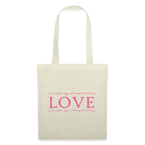 Love color rosa - Bolsa de tela